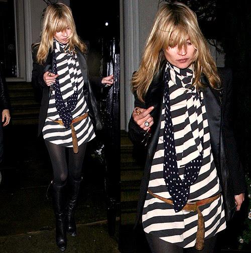 Kate Moss in Striped Dress