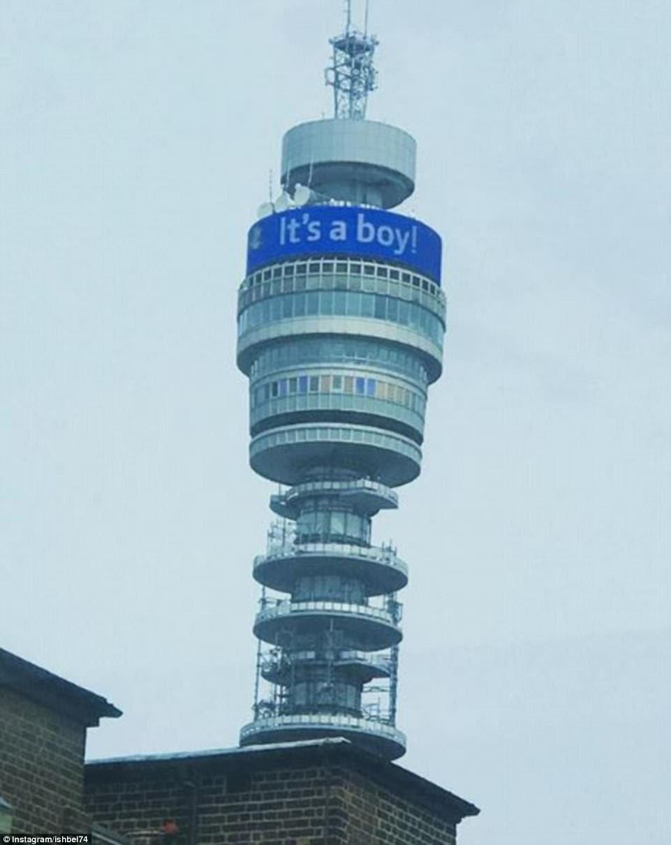 La Torre BT (en la foto) anuncia al público británico el nacimiento de un bebé real hoy