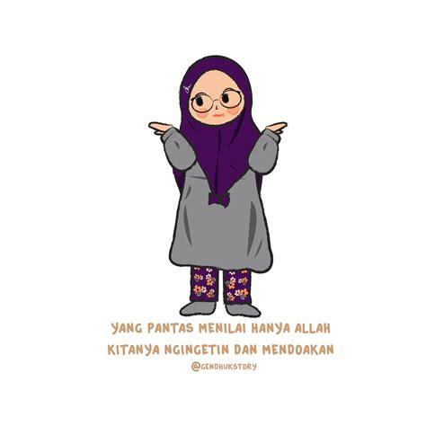 kartun muslimah  jatuh cinta nasihat berkarikatur anime