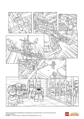 Coloriage Lego Batman 3 La Justice League Triomphe Coloriage