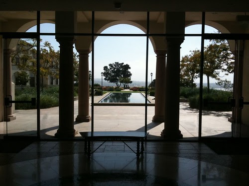 Kroc Peace Ctr. reflecting pool & vista at USD