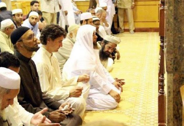 Image result for justin trudeau mosque