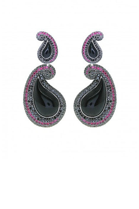 Prive Jewelry 'Kashmir' black diamond earrings, $31,902; Oh, how I neeeed!!!