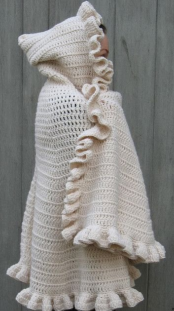 Melissa Crochet Designs Comfy Snuggle Shawl With Hood
