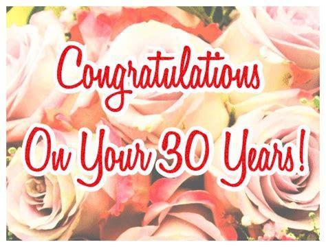 Happy 30th Wedding Anniversary (Pearl Anniversary) ecards