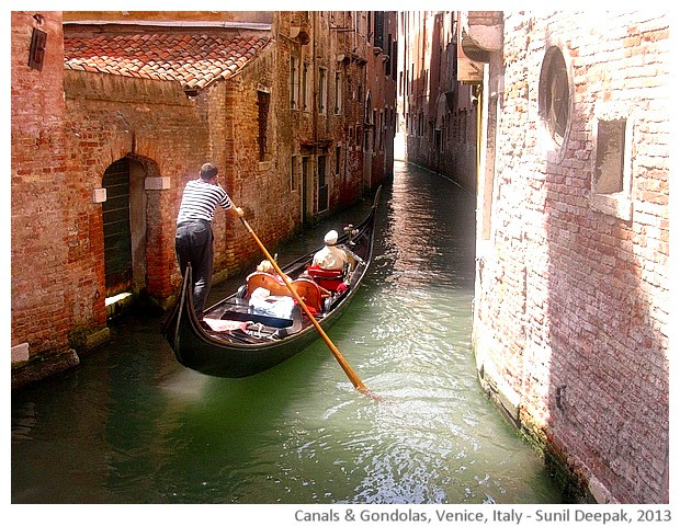 Venice walking tour, Gondolas, Italy - images by Sunil Deepak