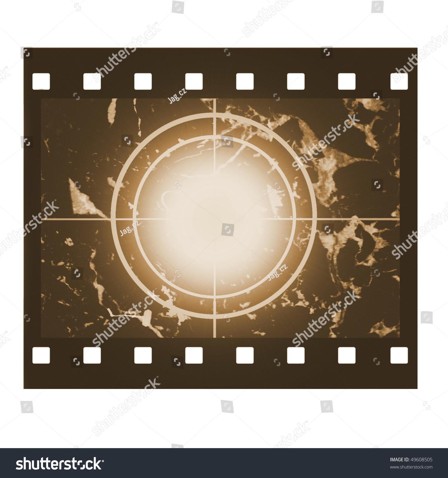Blank Film Countdown Sepia Design Stock Photo 49608505 ...