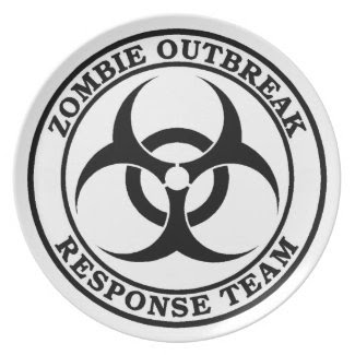 Zombie Outbreak Response Team (Biohazard) Party Plates