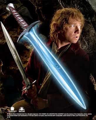 Espada Dardo Sting Bilbo Bolsón con Iluminación