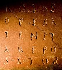 roman acrostic, corinium museum, cirencester