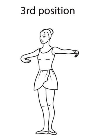 Disegno Di Terza Posizione Di Danza Classica Da Colorare Disegni