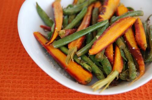 rainbow carrots n beans orange mat