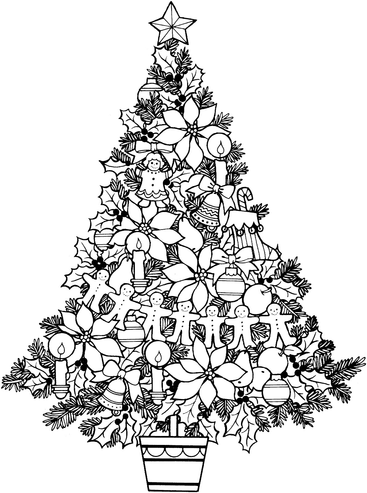 Free Christmas Pictures Black And White Download Free Clip Art