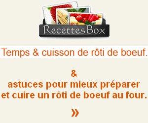 cuisson rôti boeuf
