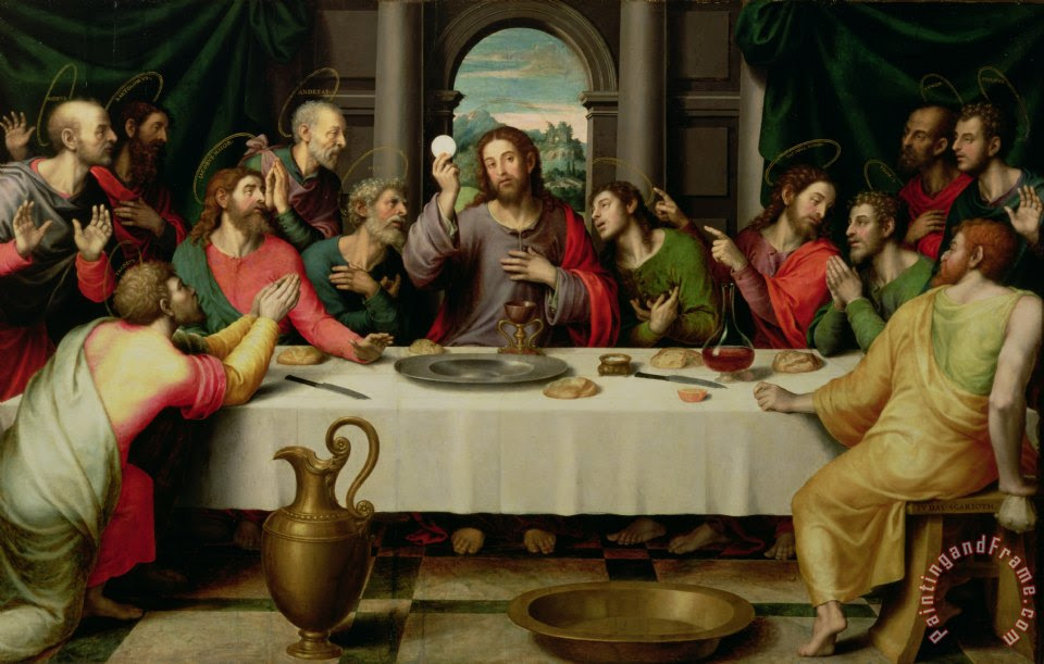 Vicente Juan Macip The Last Supper Painting The Last Supper Print