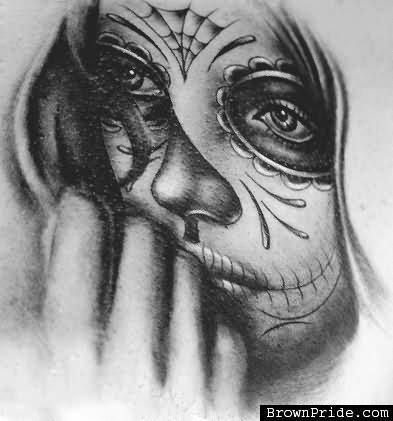 Day Of The Dead Girl Tattoo Design Idea