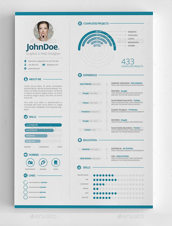 3 piece Infographic Resume
