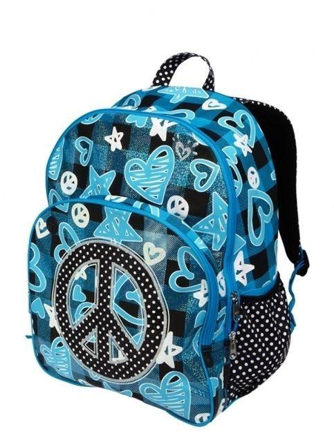New Nwt Justice S School Backpack Bag Bookbag Tote Blue Glitter