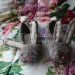 Knitted Bunny Slippers DIY knitting