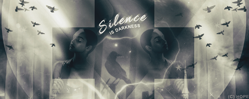 Signature #9: Silence is darkness by Hope636