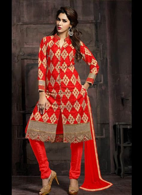 cotton chudidar dress design for wedding   SheIdeas