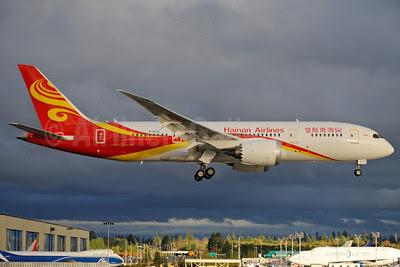 Hainan Airlines Boeing 787-8 Dreamliner B-2728 (msn 34938) PAE (Royal S. King). Image: 912808.