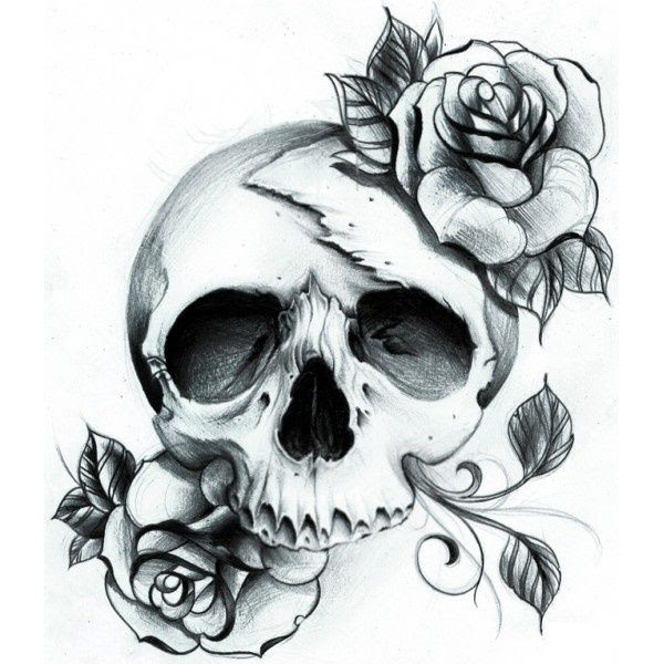 Roses And Skull Tattoo Design