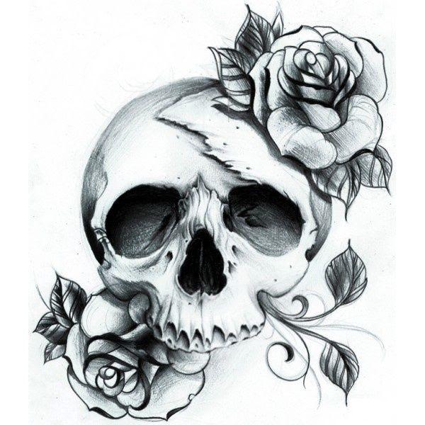 Roses And Skull Tattoo Design