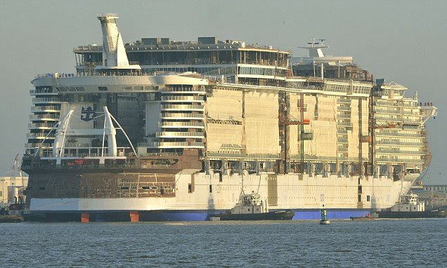 Royal Caribbean Harmony of the Seas cruise ship starting to take shape in France
