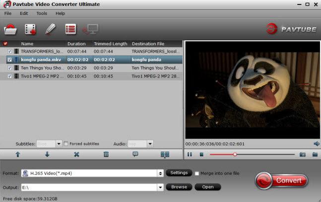Load Blu-ray/DVD/video source files