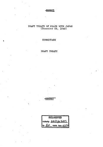 1949 December 29th; 6th Amendment of the Treaty Draft