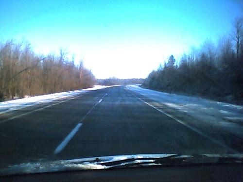 Snowy travel day