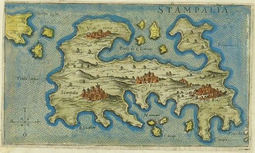 Stampalia - map of Astipalea, Greece