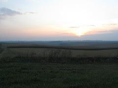 Iowa Farmland Sunset