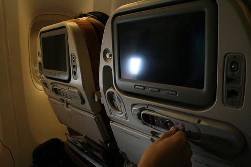Entretenidos en el avión