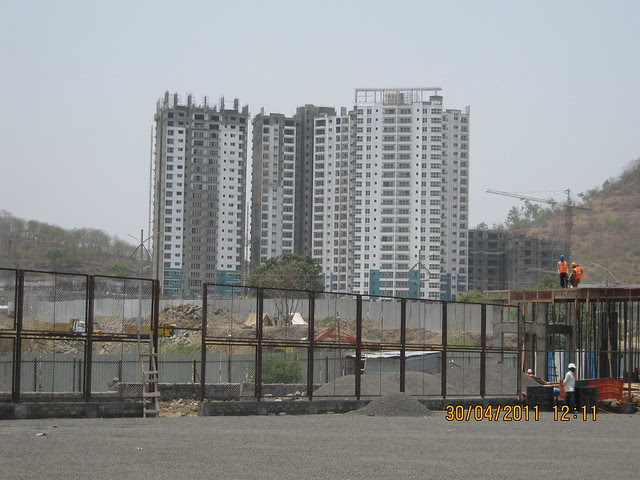 View of Sangria Towers from Tennis Courts - Common Sports Amenities in Megapolis Hinjewadi Phase 3, Pune 411 057