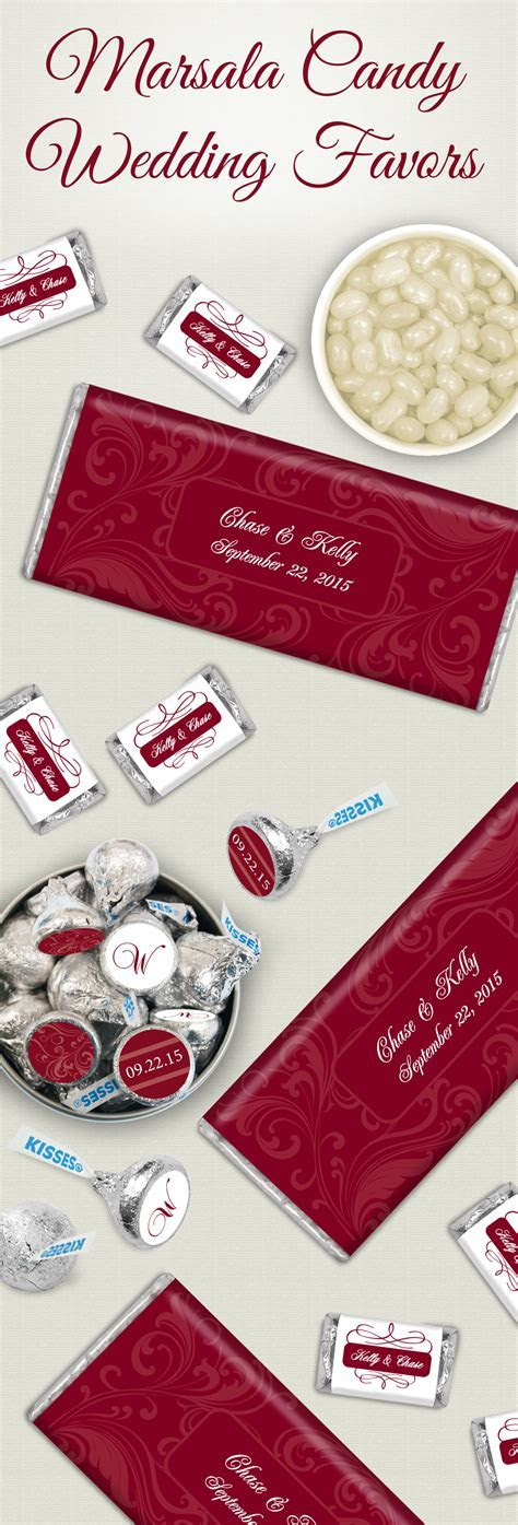 Pantone Color of the Year: Marsala Candy Wedding Favors