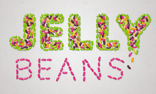 text effect tutorial jelly beans