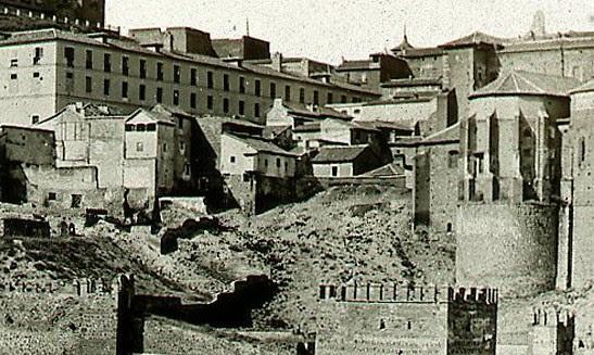 Mesón del Sevillano hacia 1858. Detalle de una fotografía de Ferrier&Soulier