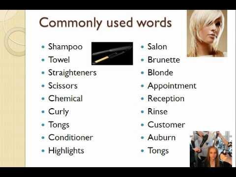 Hairdressing Vocabulary - YouTube