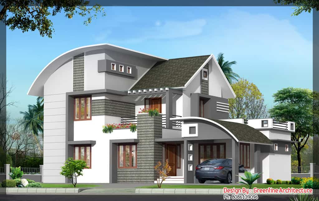 House Plan and Elevation for a 4BHK house : 2000 sq.Ft