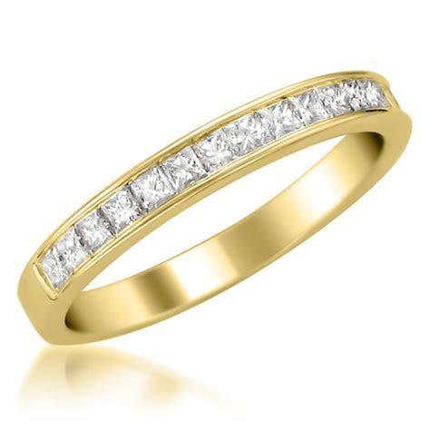Princess Cut Diamond Wedding Bands