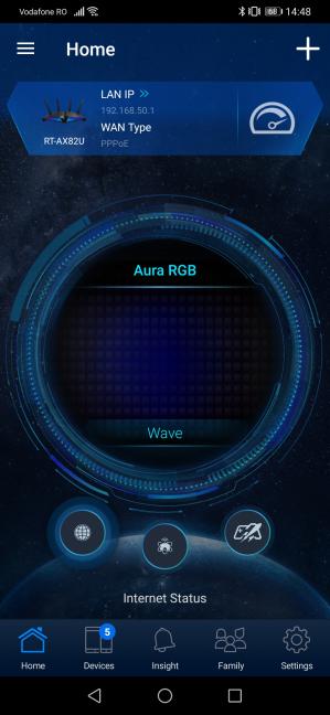 La aplicación móvil ASUS Router