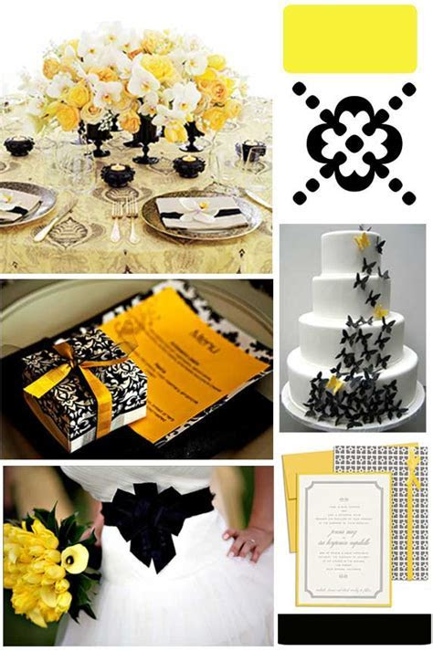 Evoking Elegance: Yellow & Black Wedding Inspirations