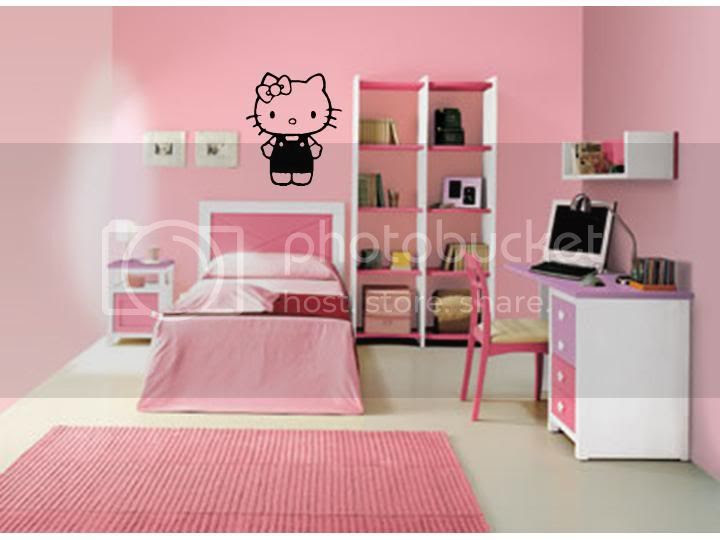 Hello Kitty Girls Bedroom Baby Nursery Wall Decal | eBay