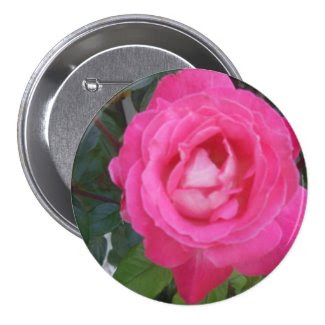 Rose Flower 3 Inch Round Button