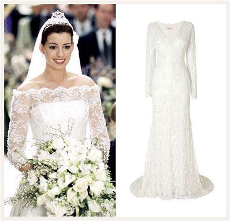 Princess Mia's (Anne Hathaway) wedding dress   The