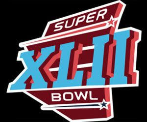 The logo for Super Bowl XLII.