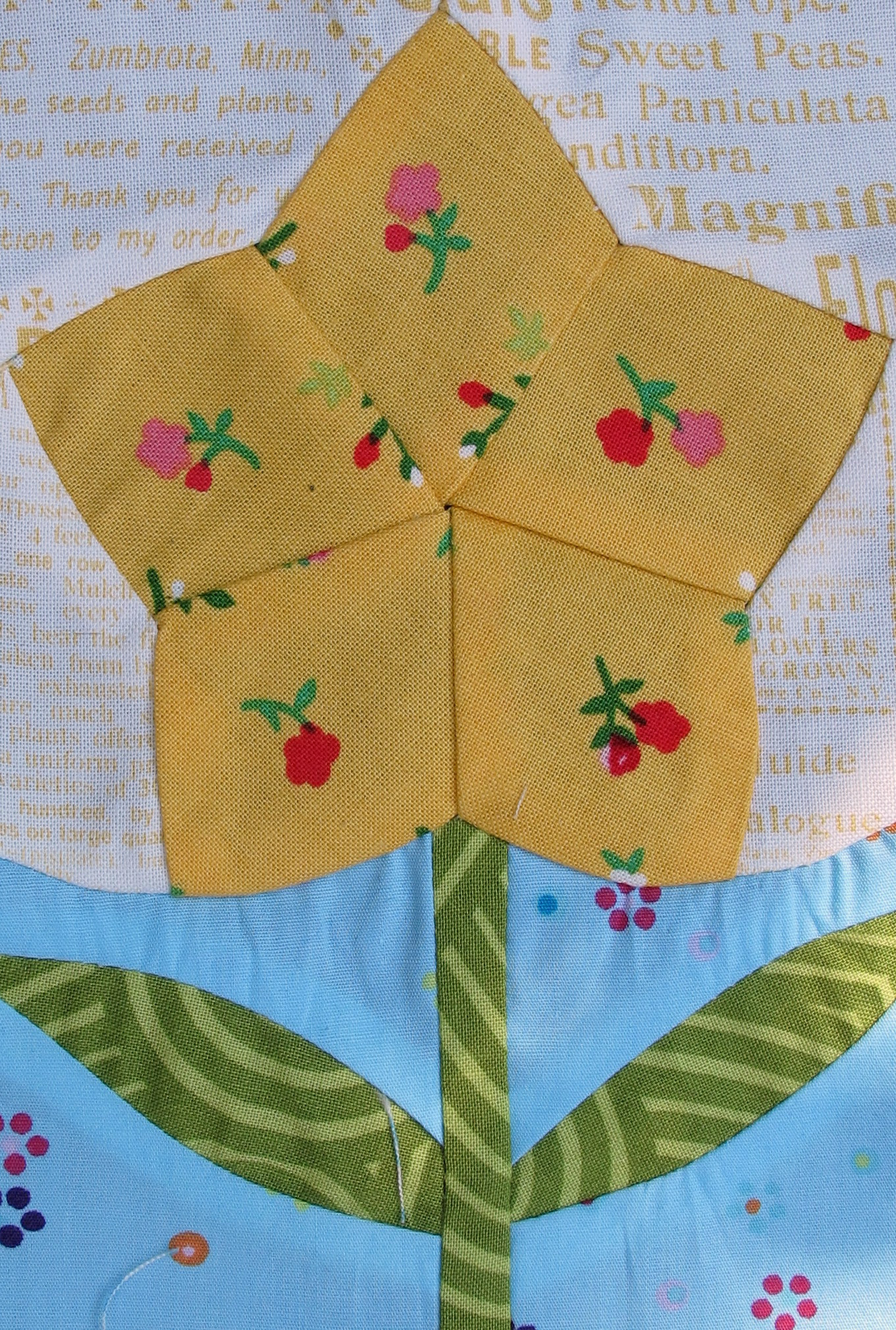 Green tea flower blocks