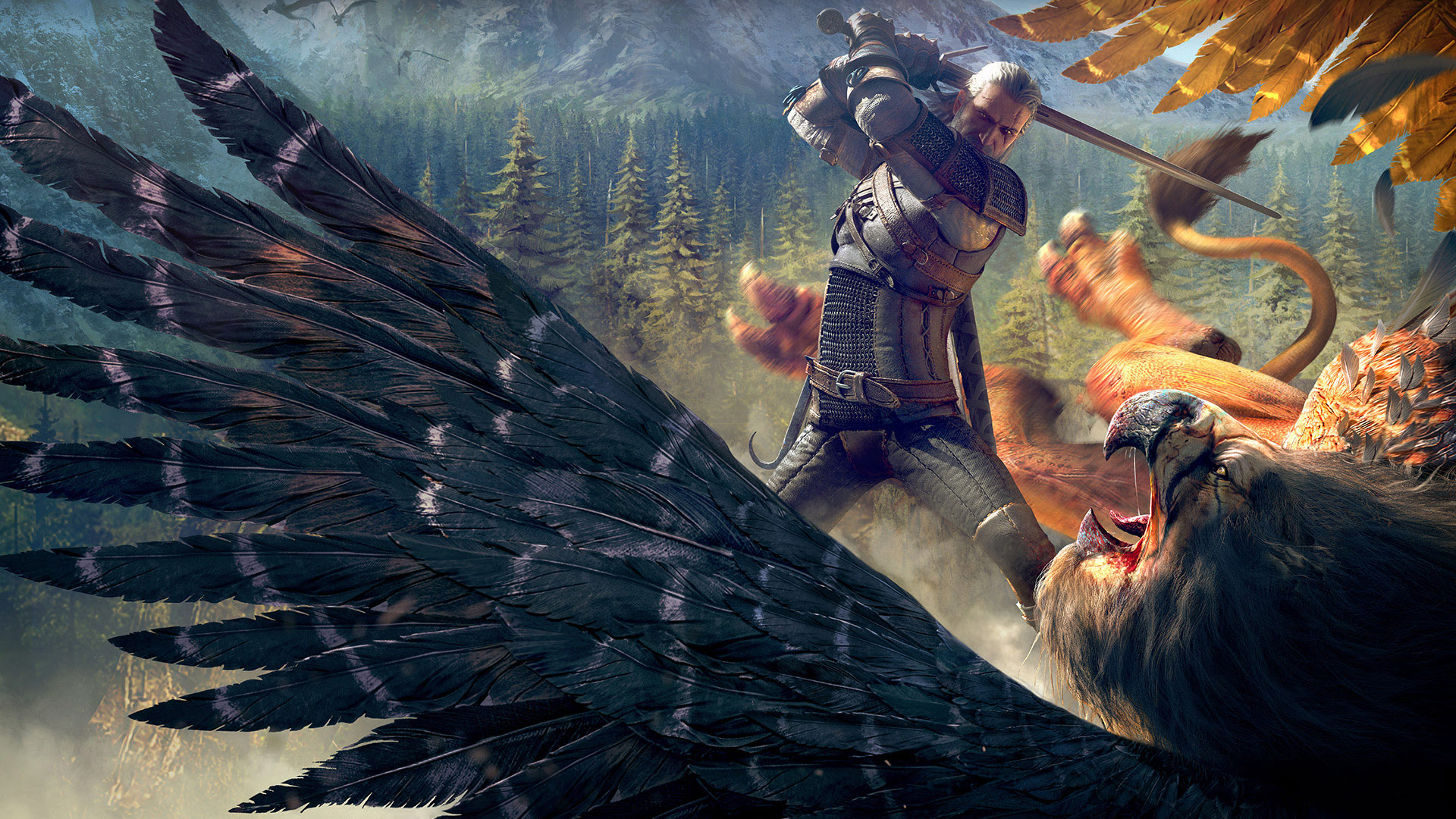 The Witcher 3 Wild Hunt Witcher Griffin Wallpapers Wallpapers Hd